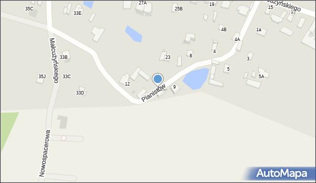 Radom, Pianistów, 7, mapa Radomia