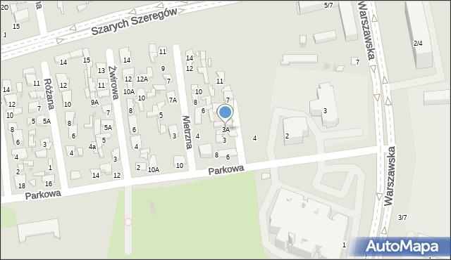 Radom, Piaskowa, 3A, mapa Radomia