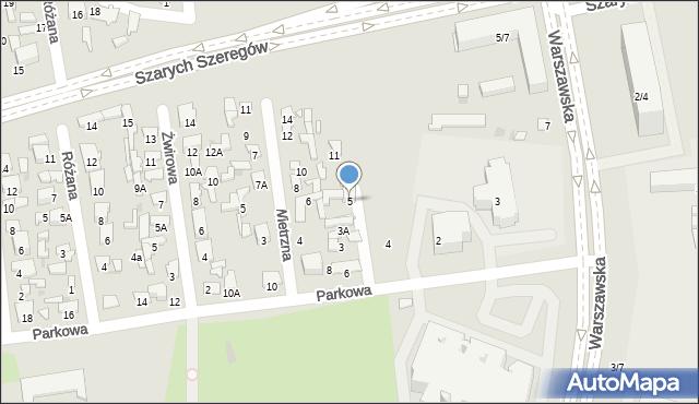 Radom, Piaskowa, 5, mapa Radomia
