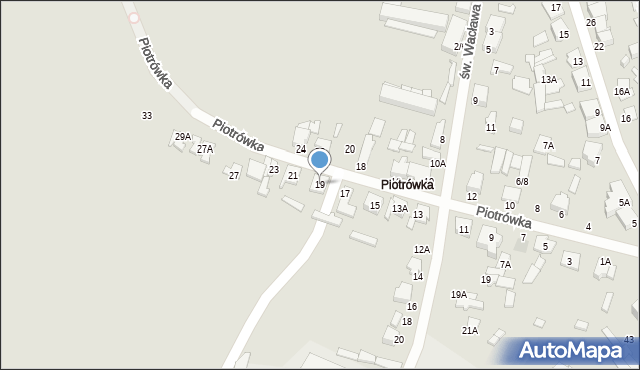 Radom, Piotrówka, 19, mapa Radomia