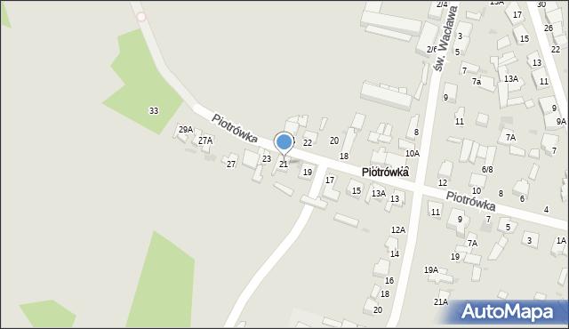 Radom, Piotrówka, 21, mapa Radomia