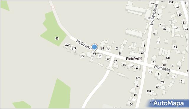 Radom, Piotrówka, 23, mapa Radomia