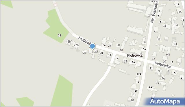 Radom, Piotrówka, 25, mapa Radomia