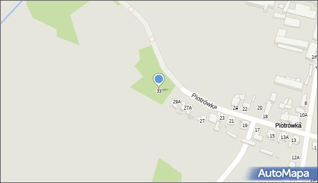 Radom, Piotrówka, 33, mapa Radomia