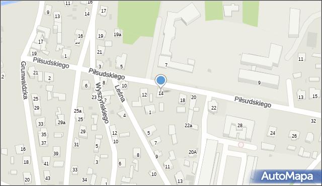 Rudnik nad Sanem, Piłsudskiego Józefa, marsz., 14, mapa Rudnik nad Sanem