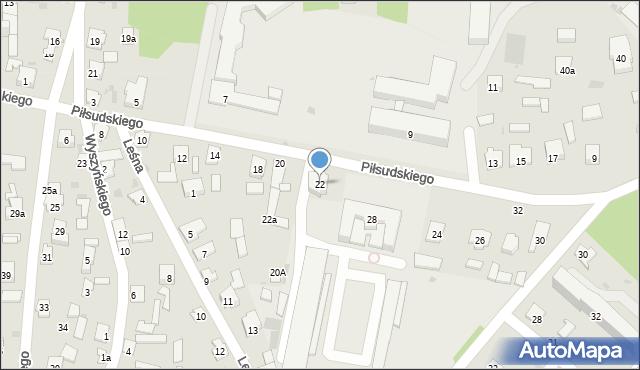 Rudnik nad Sanem, Piłsudskiego Józefa, marsz., 22, mapa Rudnik nad Sanem
