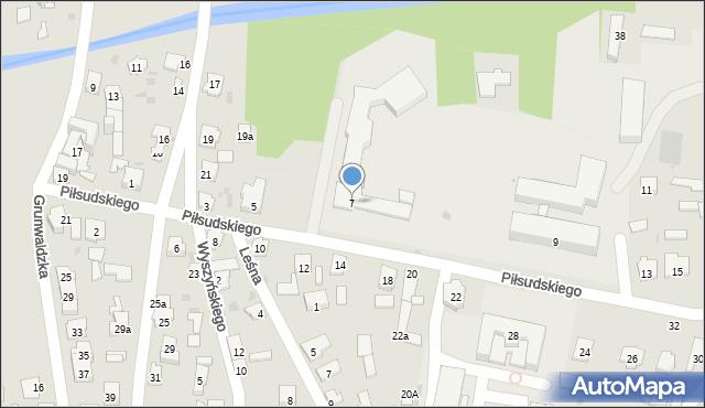 Rudnik nad Sanem, Piłsudskiego Józefa, marsz., 7, mapa Rudnik nad Sanem