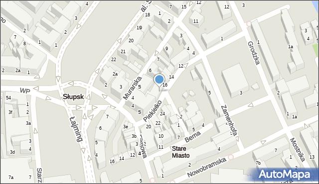 Słupsk, Piekiełko, 17, mapa Słupska