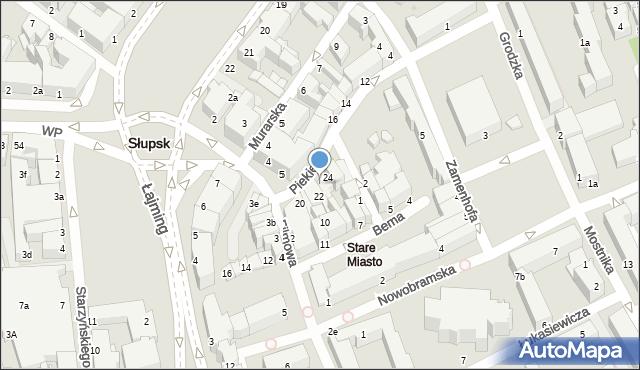 Słupsk, Piekiełko, 23, mapa Słupska