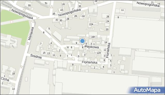 Sosnowiec, Piaskowa, 4, mapa Sosnowca