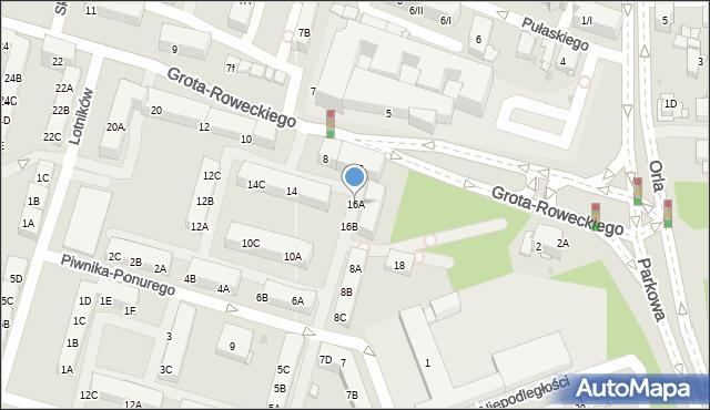 Sosnowiec, Piwnika-Ponurego Jana, mjr., 16A, mapa Sosnowca