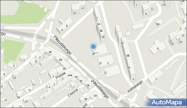 Sosnowiec, Piłsudskiego Józefa, marsz., 15, mapa Sosnowca