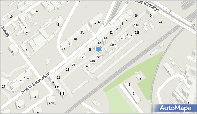 Sosnowiec, Piłsudskiego Józefa, marsz., 24C, mapa Sosnowca
