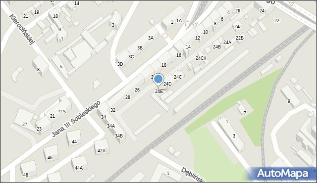 Sosnowiec, Piłsudskiego Józefa, marsz., 24E, mapa Sosnowca