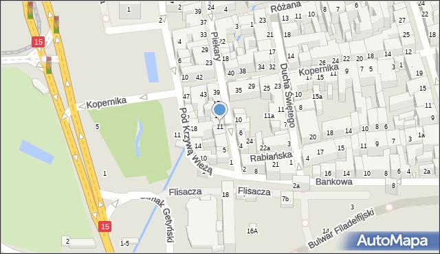 Toruń, Piekary, 11, mapa Torunia