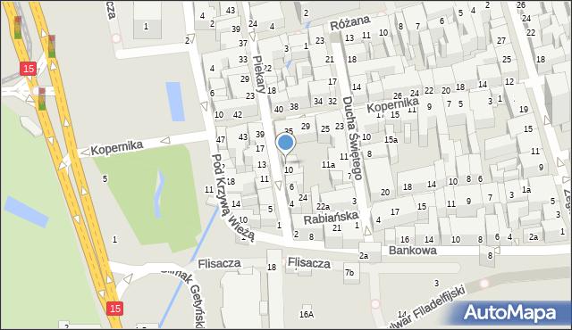 Toruń, Piekary, 12, mapa Torunia