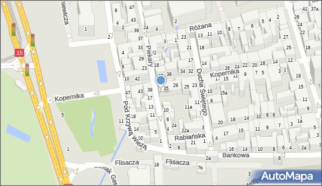 Toruń, Piekary, 14, mapa Torunia