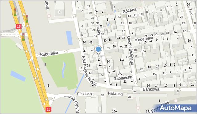 Toruń, Piekary, 15, mapa Torunia
