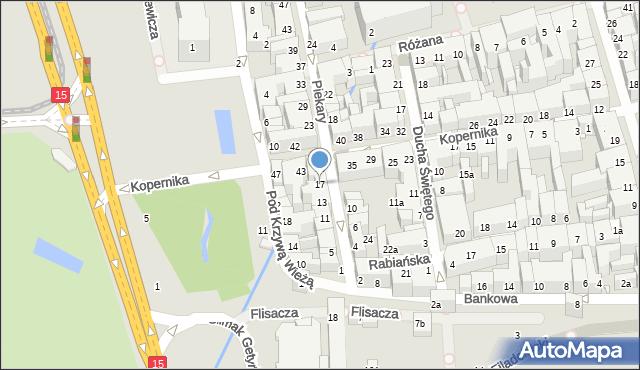 Toruń, Piekary, 17, mapa Torunia
