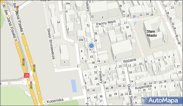 Toruń, Piekary, 45, mapa Torunia