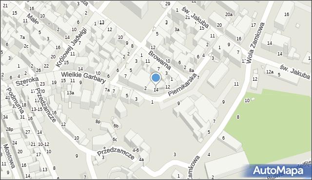 Toruń, Piernikarska, 14, mapa Torunia