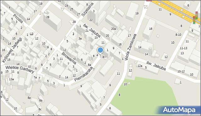 Toruń, Piernikarska, 5, mapa Torunia