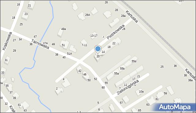 Toruń, Piotrkowska, 10, mapa Torunia