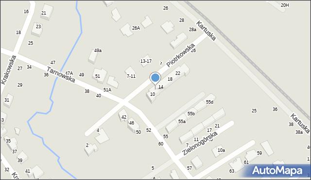 Toruń, Piotrkowska, 12, mapa Torunia