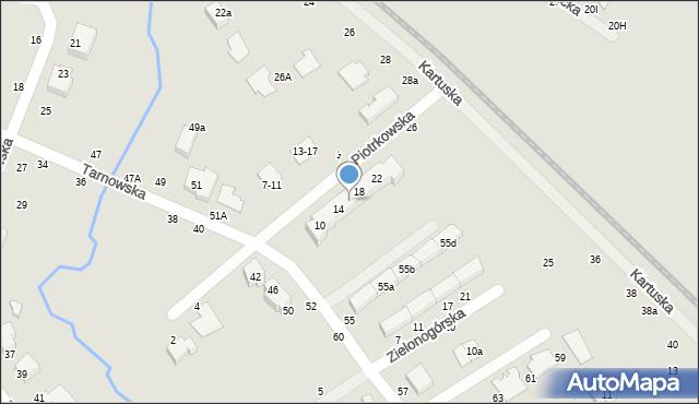 Toruń, Piotrkowska, 16, mapa Torunia