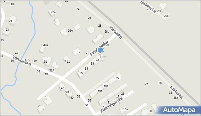 Toruń, Piotrkowska, 24, mapa Torunia