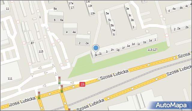 Toruń, Piskorskiej Heleny, 1k, mapa Torunia