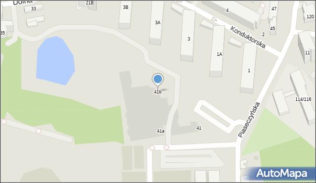 Warszawa, Piaseczyńska, 41b, mapa Warszawy