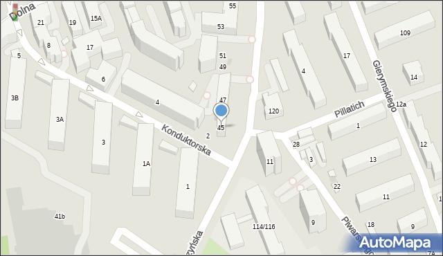Warszawa, Piaseczyńska, 45, mapa Warszawy