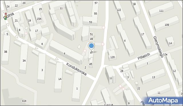 Warszawa, Piaseczyńska, 47, mapa Warszawy