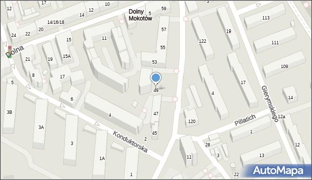 Warszawa, Piaseczyńska, 49, mapa Warszawy