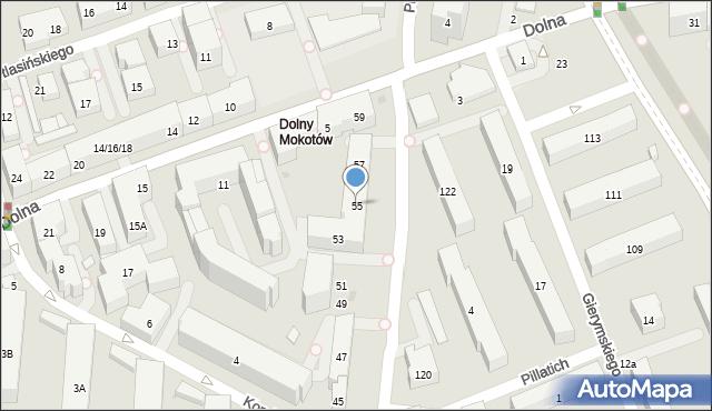 Warszawa, Piaseczyńska, 55, mapa Warszawy