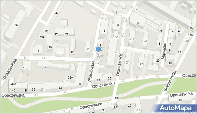 Warszawa, Piotrkowska, 11, mapa Warszawy