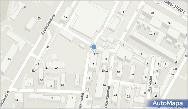 Warszawa, Piotrkowska, 3, mapa Warszawy