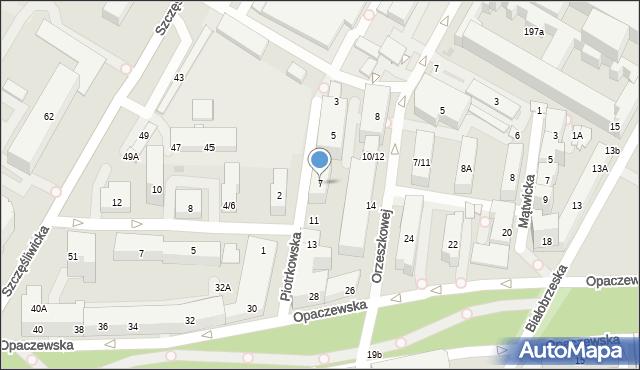 Warszawa, Piotrkowska, 7, mapa Warszawy