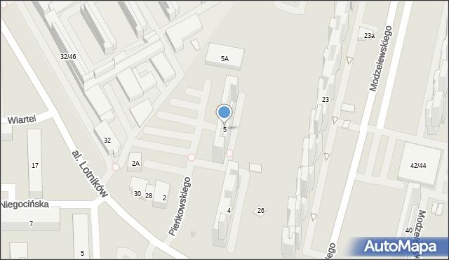 Warszawa, Pieńkowskiego Stefana, 5, mapa Warszawy