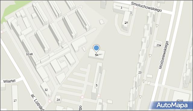 Warszawa, Pieńkowskiego Stefana, 5A, mapa Warszawy