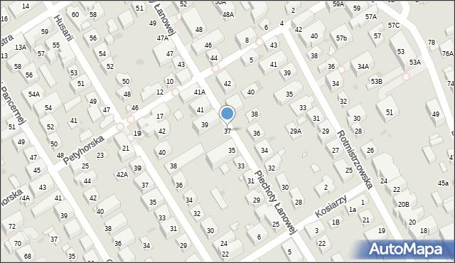 Warszawa, Piechoty Łanowej, 37, mapa Warszawy