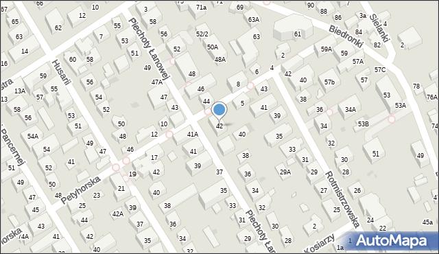 Warszawa, Piechoty Łanowej, 42, mapa Warszawy