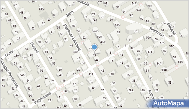 Warszawa, Piechoty Łanowej, 46, mapa Warszawy