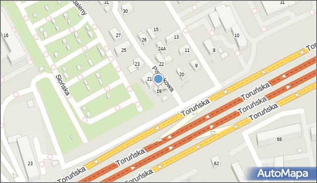Warszawa, Pisankowa, 19, mapa Warszawy