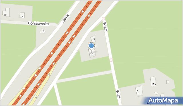Warszawa, Piaseckiego Sergiusza, 11, mapa Warszawy