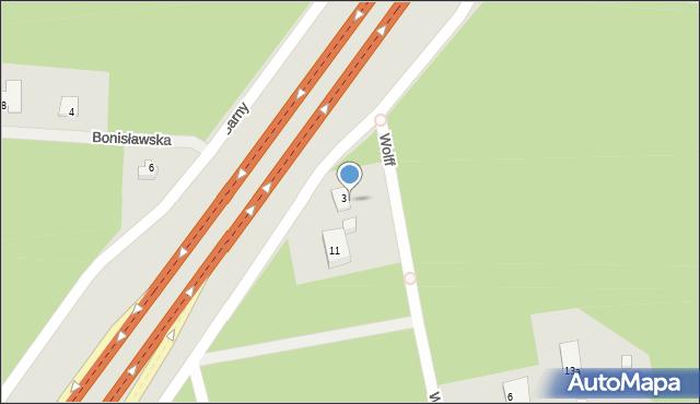 Warszawa, Piaseckiego Sergiusza, 13, mapa Warszawy