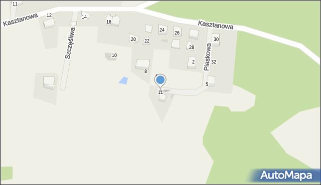Wyszecino, Piaskowa, 11, mapa Wyszecino