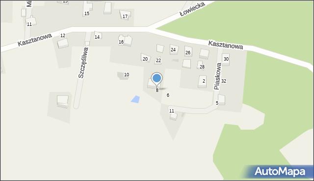 Wyszecino, Piaskowa, 8, mapa Wyszecino
