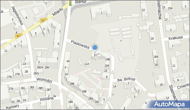 Zabrze, Piastowska, 11, mapa Zabrza
